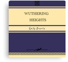 Wuthering Heights Retro Book Cover Canvas Print