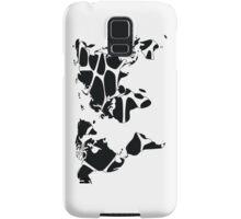 World map in animal print design, black and white Samsung Galaxy Case/Skin