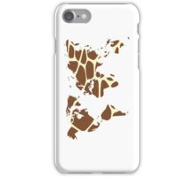 World map in animal print design, giraffe pattern iPhone Case/Skin
