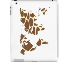 World map in animal print design, giraffe pattern iPad Case/Skin