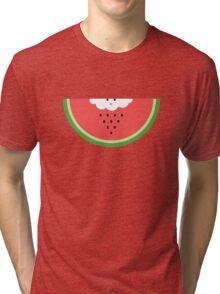Cloud raining / eating watermelon Tri-blend T-Shirt