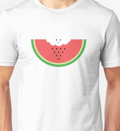 Cloud raining / eating watermelon Unisex T-Shirt