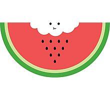 Cloud raining / eating watermelon Photographic Print