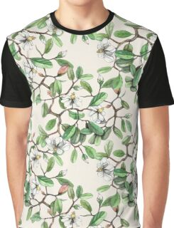 Cool Flower Branches Pattern Graphic T-Shirt