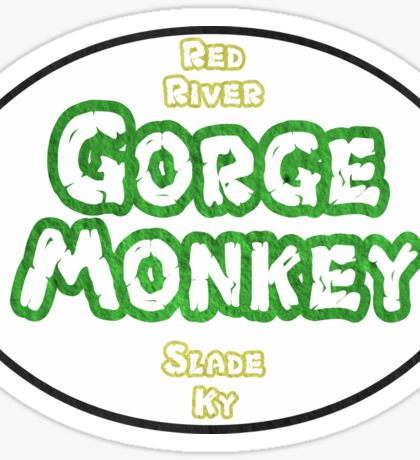 Gorge Monkey Oval Sticker Sticker