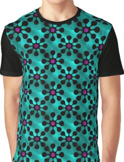 Shine Blossoms Aqua Graphic T-Shirt