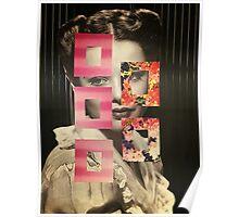 Gene Floral Collage Poster