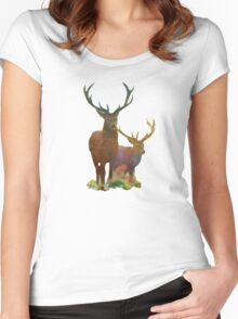 Autumn Forest Watch Women's Fitted Scoop T-Shirt