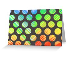 Rainbow Polka-dots Greeting Card