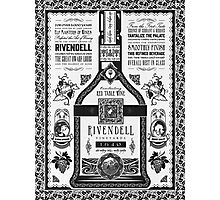 Lord of the Rings Rivendell Wine Vintage Geek Art Photographic Print
