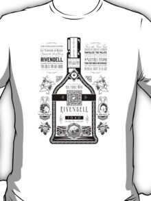 Lord of the Rings Rivendell Wine Vintage Geek Art T-Shirt