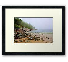 Sand Beach, Acadia Framed Print