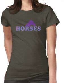 HORSES in type Womens Fitted T-Shirt