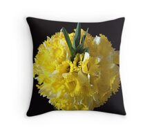 Daffodils ball Throw Pillow