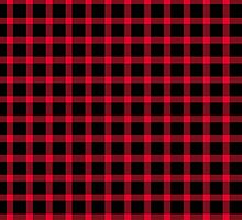 Black and Red Buffalo Plaid by Greenbaby