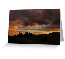Colorado Sunset....A Greeting Card