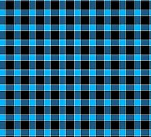 Blue and Black Tartan Plaid by Greenbaby