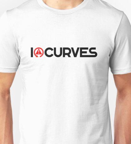 I love curves (1) Unisex T-Shirt