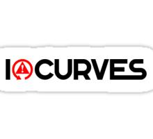 I love curves (1) Sticker