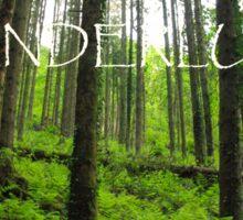 Wanderlust Forest Sticker