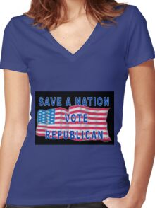 Save A Nation Women's Fitted V-Neck T-Shirt