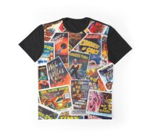 Classic 1950s Science Fiction Poster Collage Graphic T-Shirt