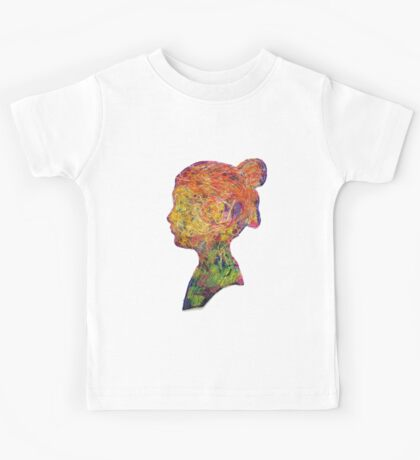 Girl Thread Art Silhouette Kids Tee