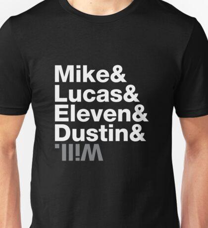 Stranger Things Kids Names Unisex T-Shirt