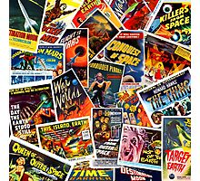 Classic 1950s Science Fiction Poster Collage Photographic Print