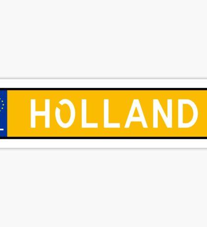 Holland Kenteken Sticker