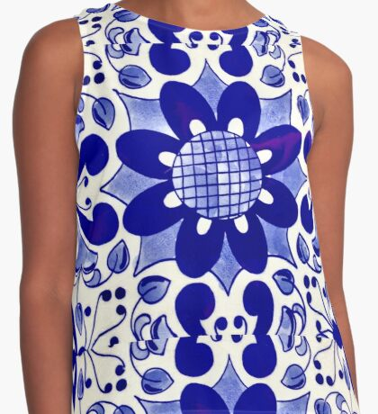 Morrocan Blue Contrast Tank