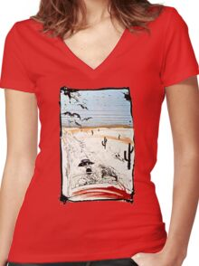 Fear and Loathing in LV Women's Fitted V-Neck T-Shirt
