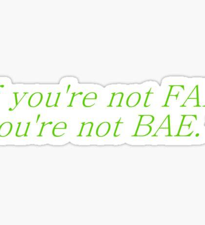 fae bae Sticker