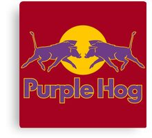 Purple Hog Canvas Print