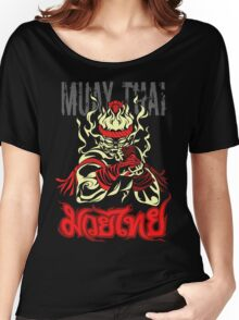 muay thai spirit of fire Women's Relaxed Fit T-Shirt