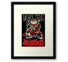 muay thai spirit of fire Framed Print