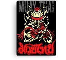 muay thai spirit of fire Canvas Print