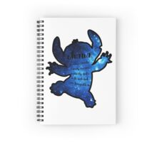 galaxy stitch with quote Spiral Notebook
