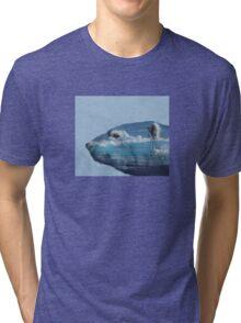 Polar bear and ice Tri-blend T-Shirt