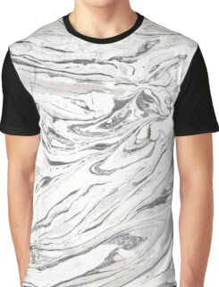 Grey marble Graphic T-Shirt