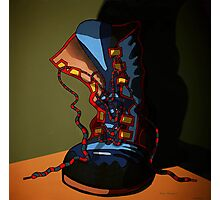 Boot with the blues Photographic Print
