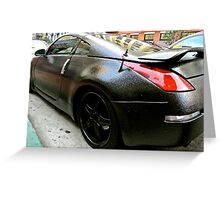 Nissan 350Z Bedliner PaintJob Greeting Card