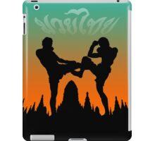 muay thai sunset temple fighter iPad Case/Skin