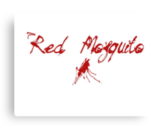 Red Mosquito Canvas Print