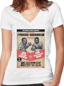 THE FRACAS AT DARAMALAN Women's Fitted V-Neck T-Shirt