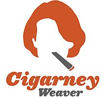 """Cigarney Weaver"" Sigourney Weaver Cigar Shirt Photographic Print"