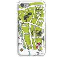 Oak Forest Houston Neighborhood Souvenir Map iPhone Case/Skin