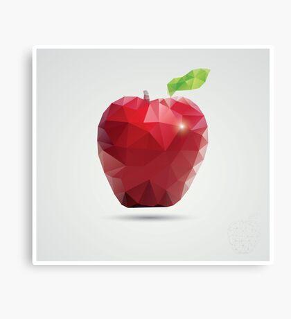 Geometric polygonal fruit, triangles, apple Canvas Print