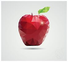 Geometric polygonal fruit, triangles, apple Photographic Print