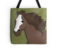 brown horse galopping Tote Bag
